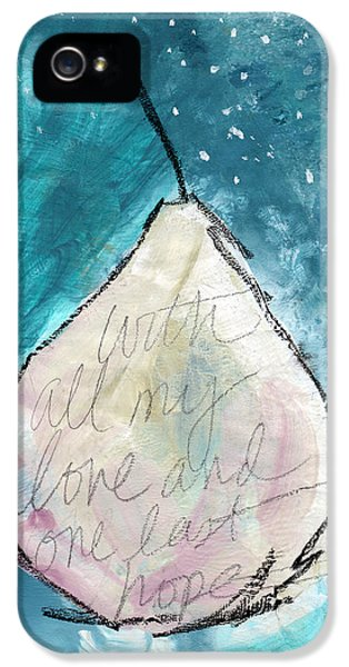 Pear iPhone 5 Case - Love And Hope Pear- Art By Linda Woods by Linda Woods