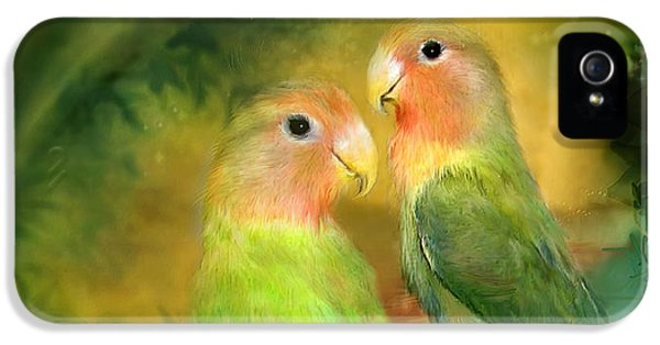 Love In The Golden Mist IPhone 5 Case by Carol Cavalaris
