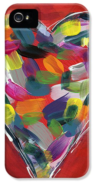 Love Is Colorful - Art By Linda Woods IPhone 5 Case by Linda Woods