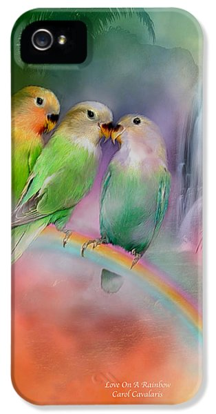 Lovebird iPhone 5 Case - Love On A Rainbow by Carol Cavalaris