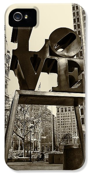 Philadelphia iPhone 5 Cases - Love Philadelphia iPhone 5 Case by Jack Paolini