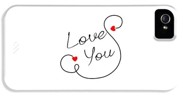 Love You IPhone 5 Case by Bri Lou