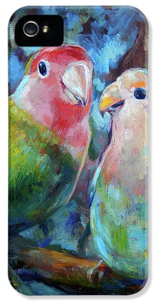 Lovebird iPhone 5 Case - Lovebirds by Tom Dauria