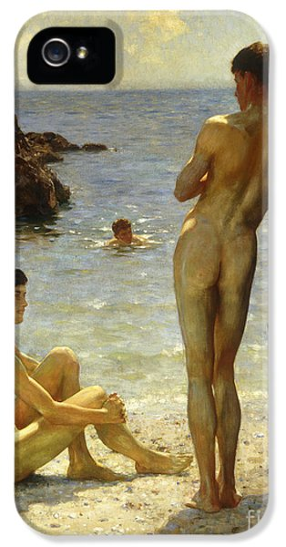 Lovers Of The Sun IPhone 5 Case by Henry Scott Tuke