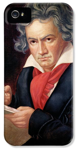 Ludwig Van Beethoven Composing His Missa Solemnis IPhone 5 Case by Joseph Carl Stieler