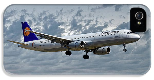 Jet iPhone 5 Case - Lufthansa Airbus A321-131 by Smart Aviation