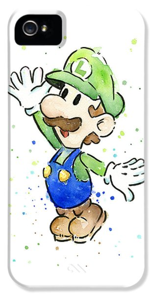 Luigi Watercolor IPhone 5 Case