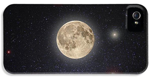 Moon iPhone 5 Cases - Luna Lux iPhone 5 Case by Steve Gadomski