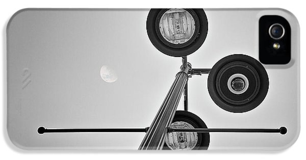 Lunar Lamp In Black And White IPhone 5 Case by Tom Mc Nemar