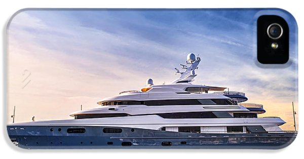 Boat iPhone 5 Case - Luxury Yacht by Elena Elisseeva