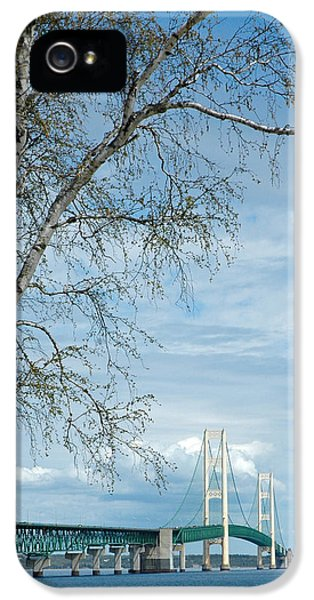 Mackinac Bridge Birch IPhone 5 Case