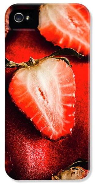 Macro Shot Of Ripe Strawberry IPhone 5 Case by Jorgo Photography - Wall Art Gallery