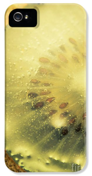 Macro Shot Of Submerged Kiwi Fruit IPhone 5 Case by Jorgo Photography - Wall Art Gallery