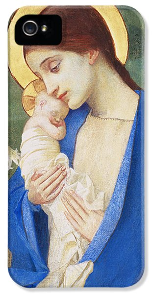 Madonna And Child IPhone 5 Case by Marianne Stokes