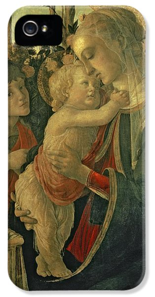 Madonna And Child With St. John The Baptist IPhone 5 Case by Sandro Botticelli