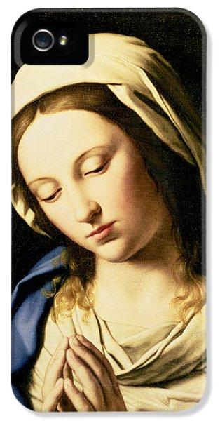 Madonna At Prayer IPhone 5 Case by Il Sassoferrato