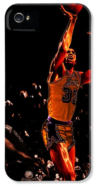 Magic Johnson Lean Back II IPhone 5 Case by Brian Reaves