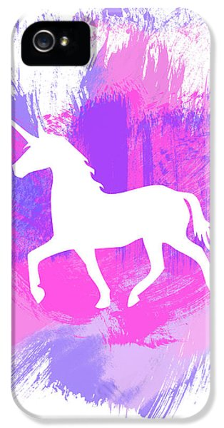 Magician iPhone 5 Case - Magic Unicorn 1- Art By Linda Woods by Linda Woods