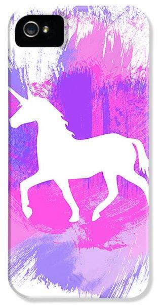 Magician iPhone 5 Case - Magic Unicorn 1- Art By Linda Woods by Linda Woods