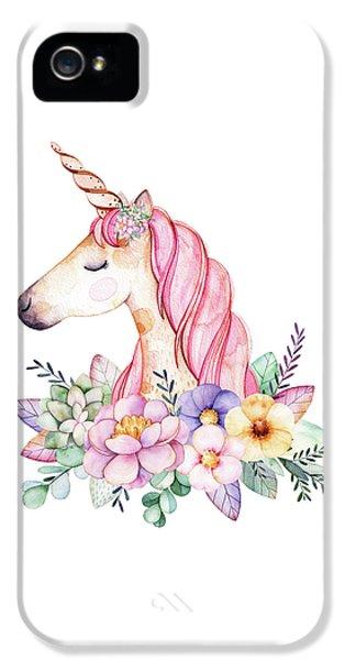 Magical Watercolor Unicorn IPhone 5 Case