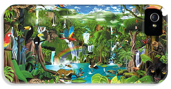 Toucan iPhone 5 Case - Magnificent Rainforest by Gerald Newton
