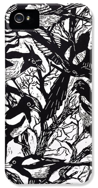 Magpies IPhone 5 Case by Nat Morley