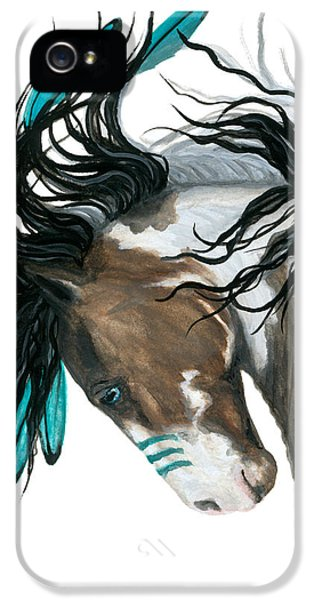Horse iPhone 5 Case - Majestic Turquoise Horse by AmyLyn Bihrle