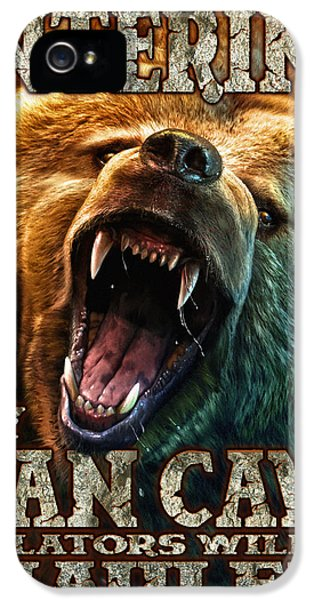 Scary iPhone 5 Cases - Man Cave iPhone 5 Case by JQ Licensing
