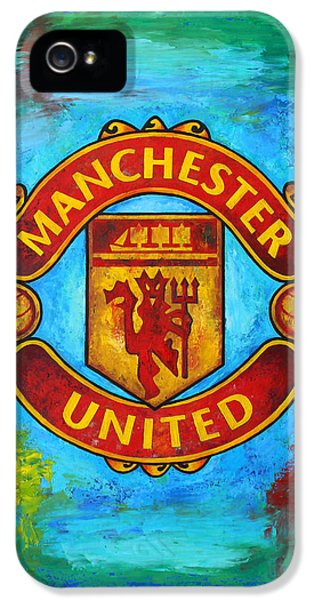 Manchester United Vintage IPhone 5 Case by Dan Haraga