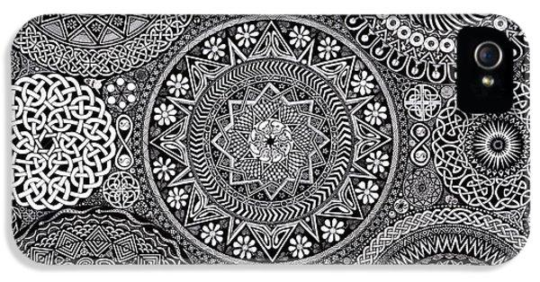 Mandala Bouquet IPhone 5 Case by Matthew Ridgway
