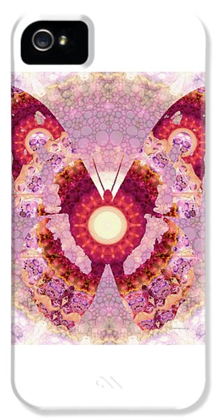 Mandala Butterfly 1 - Art By Sharon Cummings IPhone 5 Case by Sharon Cummings