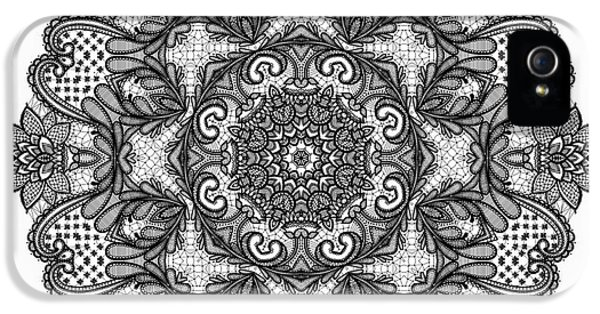 Mandala To Color 2 IPhone 5 Case by Mo T