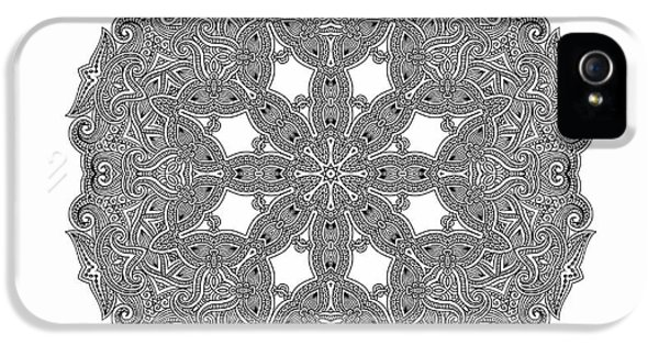 Mandala To Color IPhone 5 Case by Mo T