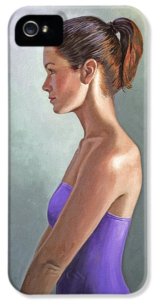 Mandy-profile IPhone 5 Case by Paul Krapf