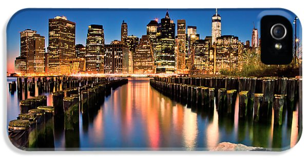 Manhattan Skyline At Dusk IPhone 5 Case