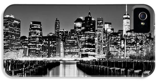 Manhattan Skyline Bw IPhone 5 Case by Az Jackson