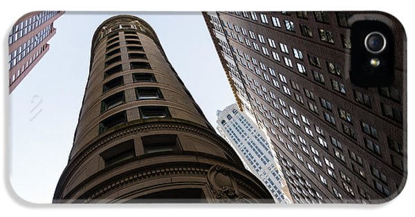 Manhattan Skyscraper Canyons - Architectural Diversity In The Financial District IPhone 5 Case