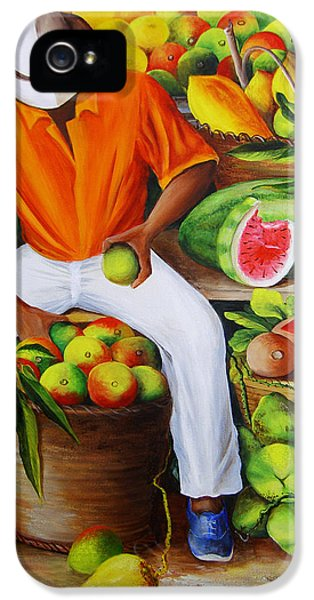 Manuel The Caribbean Fruit Vendor  IPhone 5 Case