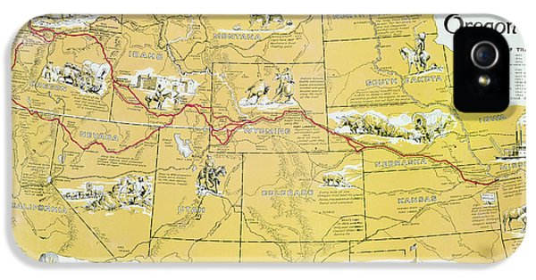 Map Of The Old Oregon Trail IPhone 5 Case by American School