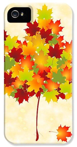 Maple Leaves IPhone 5 Case by Anastasiya Malakhova