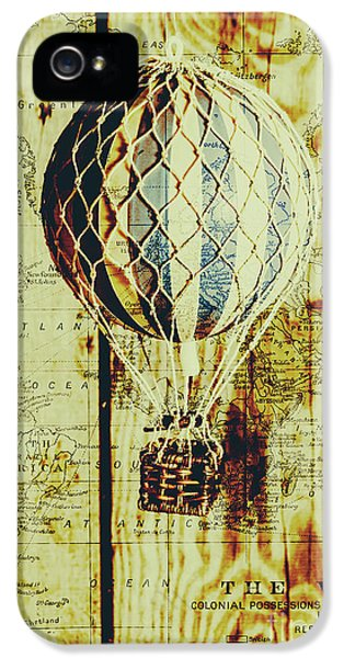 Mapping A Hot Air Balloon IPhone 5 Case by Jorgo Photography - Wall Art Gallery
