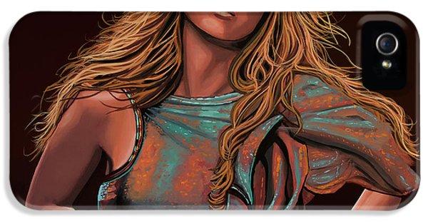 Mariah Carey Painting IPhone 5 Case by Paul Meijering
