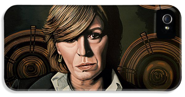 Rolling Stone Magazine iPhone 5 Case - Marianne Faithfull Painting by Paul Meijering