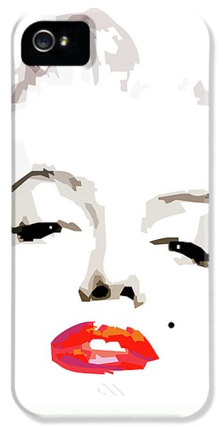 Marilyn Monroe iPhone 5 Case - Marilyn Monroe Minimalist by Quim Abella