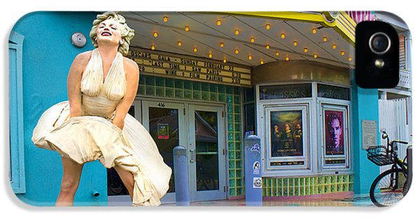 Marilyn Monroe In Front Of Tropic Theatre In Key West IPhone 5 Case by David Smith