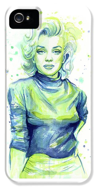 Marilyn Monroe iPhone 5 Case - Marilyn Monroe by Olga Shvartsur