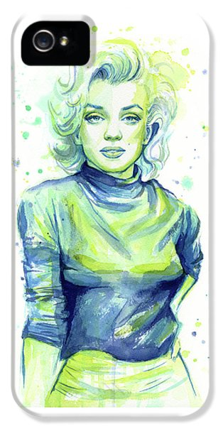 Marilyn Monroe IPhone 5 Case by Olga Shvartsur