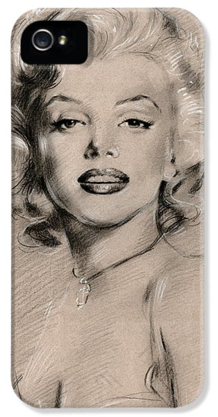 Marilyn Monroe IPhone 5 Case by Ylli Haruni