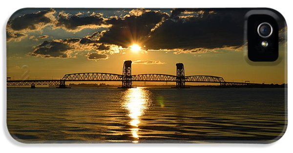 Gil iPhone 5 Cases - Marine Park Gil Hodges Bridge iPhone 5 Case by Maureen E Ritter
