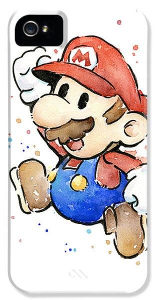 Mario Watercolor Fan Art IPhone 5 Case